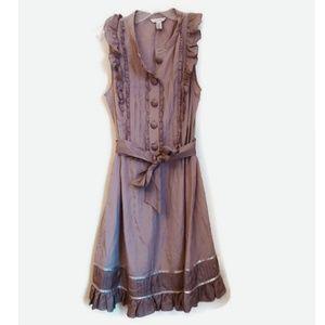 Ted Baker Lolita Silk Ruffle Tie Waist Dress